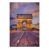 Acrylglasbild L´Arc de Triomphe Paris at Night - Abmessung 60x40 cm,