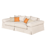 Bigsofa Naomi - Webstoff - Beige / Orange,