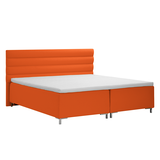 Boxspringbett Danuta I - Webstoff - 140 x 200cm - Orange,