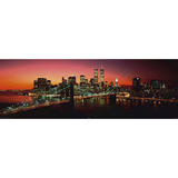 Decopanel - Morning Sun NYC - Schwarz, Orange,