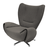Designersessel Tom - Webstoff - Braun,