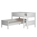 Eck-Etagenbett Lifetime Original - Kiefer massiv - Whitewash - Inkl. Deluxe Lattenrost,