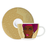 Espressotasse mit Untertasse My Little Darling - 80 ml - Design Angela Schiewer - 2014 - 1580110,