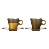 Espressotasse Ooh Magico (2er-Set) - Gold Metallic,