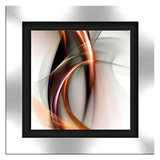 Glasbild Fire & Light II - Glas - Grau,