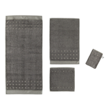 Handtuch Country Style - 100% Baumwolle slate grey - 742 - Seiflappen: 30 x 30 cm,
