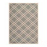 In-/Outdoorteppich Marbella - Anthrazit/Beige - Maße: 122 x 171 cm,