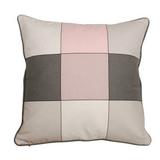 Kissen Design Noma Grey/Rose - Baumwolle - Graue/Rosafarbe Quadraten,