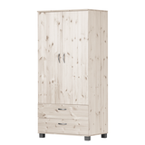 Kleiderschrank Lenice - White Washed,