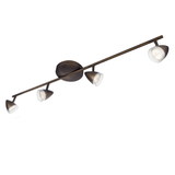 EEK A+, LED-Spotbalken myLiving Maple V - Bronze - 4-flammig,