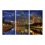 Leinwandbild City by Night - 120 x 80cm,