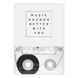Leinwanddruck Music Sounds Better With You von Galaxy Eyes - Größe: A4 (30 x 21 cm),