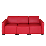 Modular 3-Sitzer Sofa Couch Lyon - Rot,