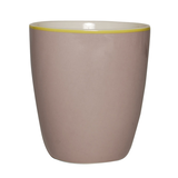 Mug - Design Solid Grey - New Bone China Porzellan - Einzelfarbig Becher in Grau,