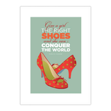 Poster Monroe Shoes von Visual Philosophy - Größe: A2 (59 x 42 cm),