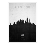 Poster New York City Contemporary Cityscape von Calm The Ham - Größe: A2 (59 x 42 cm),