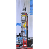 Print & Paint - Leinwandbild - Colour of London - Grau, Blau, Rot,