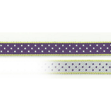 Ribbon On Board - Design Dot Lilac - Baumwolle/Polyester - Lilafarbe mit Muster,