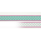 Ribbon On Board - Design Dot Turquoise - Baumwolle/Polyester - Türkisfarbe mit Muster,