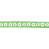 Ribbon On Board - Design Lucy Flower Green - Polyester - Grün mit Muster,