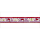 Ribbon On Board - Design Piggy Red - Polyester - Rot mit Muster,