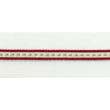Ribbon On Board - Design Strada Red - Baumwolle/Polyester - Rot mit Muster,