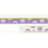 Ribbon On Board - Design Twinkle Lilac - Polyester - Lilafarbe mit Muster,