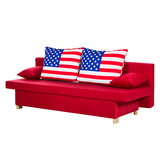 Schlafsofa Homely USA - Microfaser Rot,