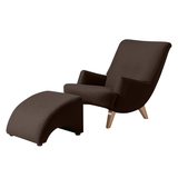 Sessel Kiruna (mit Hocker) - Webstoff Schoko,