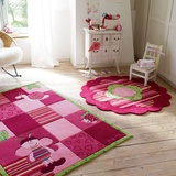 Teppich Kids Collection - Handgetuftet - Pink - 90 x 160 cm,