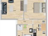 Neuwertige, voll möbliert  2 Zimmer EG Wohnung in Friedrichshafen 582836