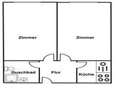 2 Zi Dachgeschosswohnung für Studenten, Coutagefrei 48988