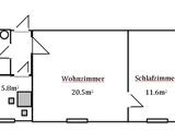 Moderne 2 Zimmer Altbauwohnung am Jakobsplatz  134247