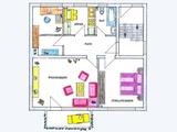 Bad Vilbel-Gronau. Bahn: 5 Gehmin. Ruhige Lage. Große Wohnung, Balkon, Einbauküche, Parkettboden. 670506