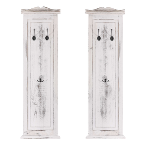 2x wandgarderobe 109x28x3 5cm shabby look vintage wei. Black Bedroom Furniture Sets. Home Design Ideas