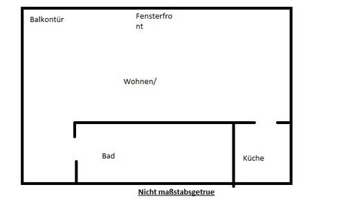 1 Zimmerwohnung mit Küche und Balkon an der Grenze von Südstadt und ...