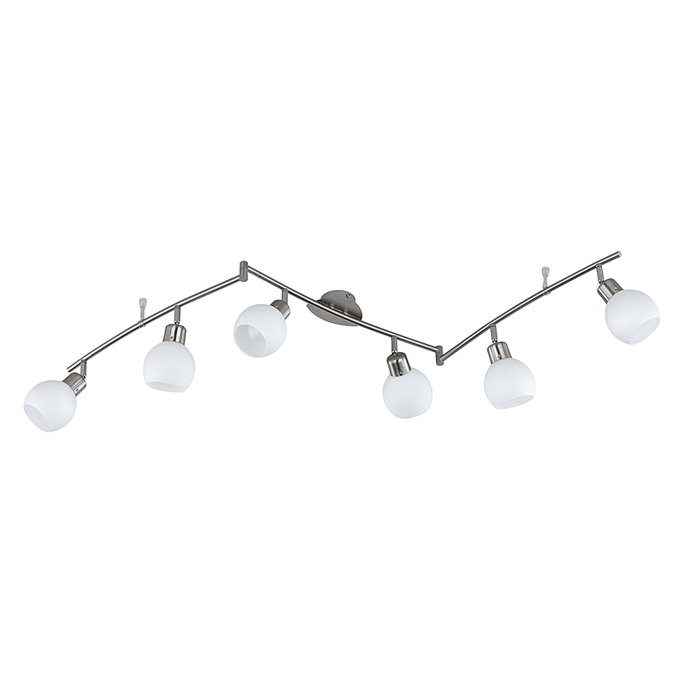 EEK A++, LED-Balken - Nickel - 6x4 W,