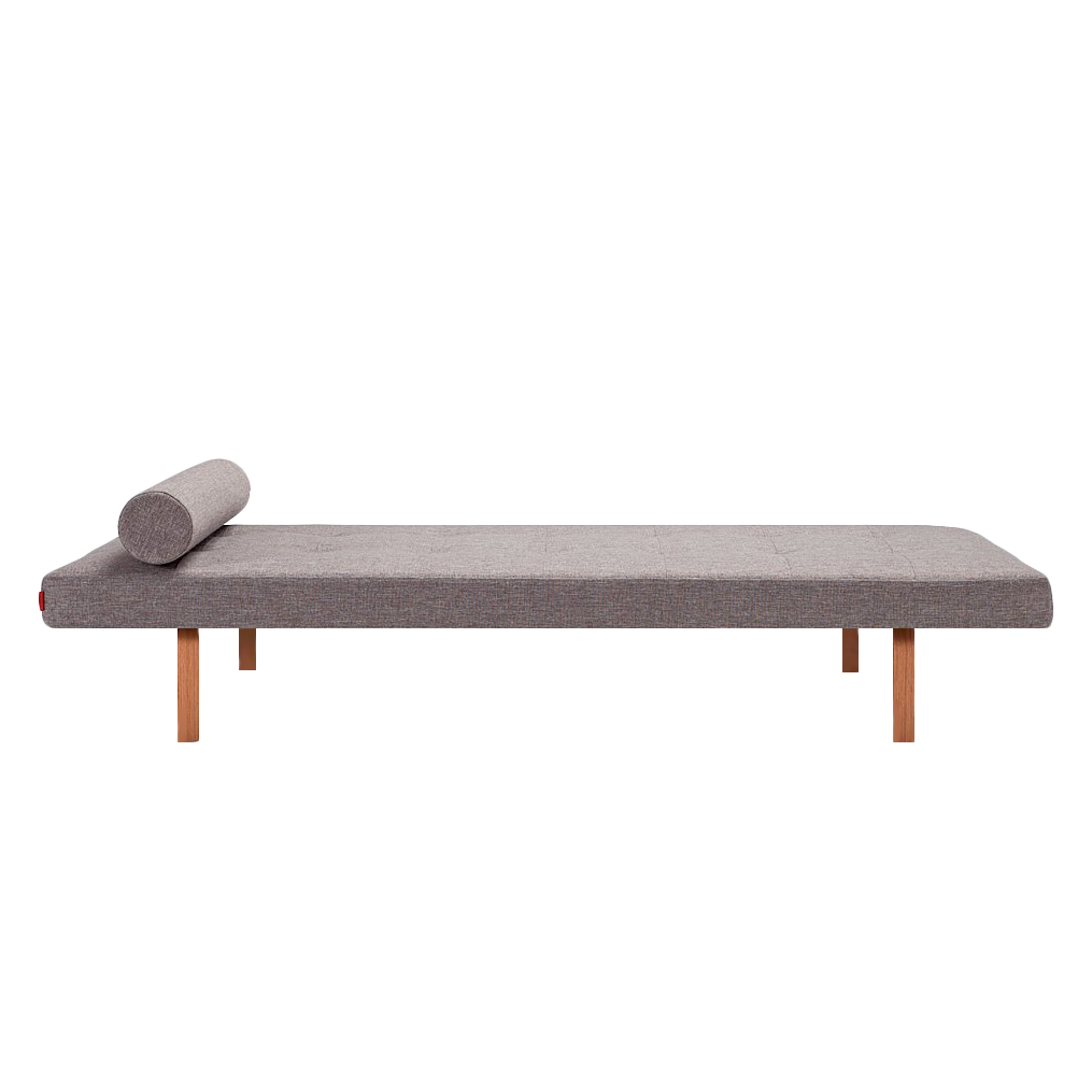 Relaxliege Napper Wood - Webstoff Grau,