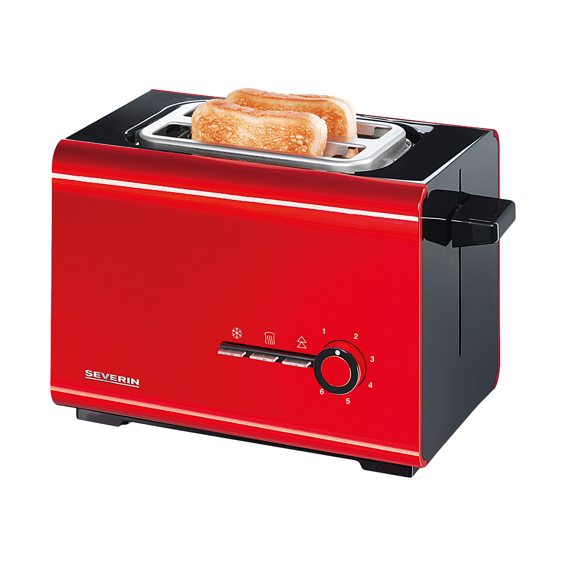 Toaster Style AT 2507 - Kunststoff Schwarz, Rot,