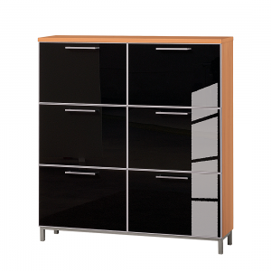 schuhschrank alves vi kernbuche glas anthrazit tiefe 20 cm f r 18 paar schuhe kleinm bel. Black Bedroom Furniture Sets. Home Design Ideas