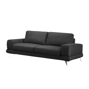 sofa bradley 2 5 sitzer webstoff schwarz mit 1. Black Bedroom Furniture Sets. Home Design Ideas