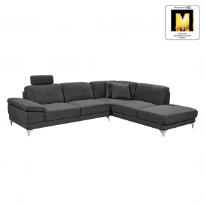 ecksofa casual line strukturstoff longchair ottomane davorstehend rechts verstellbare. Black Bedroom Furniture Sets. Home Design Ideas